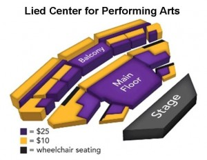 Lied Center seating map